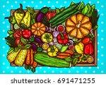 vector cartoon illustration of... | Shutterstock .eps vector #691471255