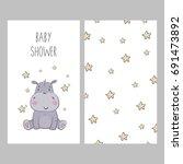 Baby Shower Card Design. Cute...