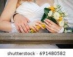 wedding rings.  cture of man... | Shutterstock . vector #691480582