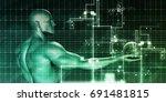 digital identity management as... | Shutterstock . vector #691481815