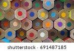 Colorful Colored Pencils Butt...
