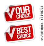our choice customers poll... | Shutterstock .eps vector #69148735