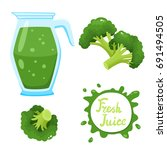 vector set of natural fresh... | Shutterstock .eps vector #691494505