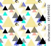 seamless pattern geometric... | Shutterstock .eps vector #691494532