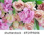 colorful bunch of beautiful... | Shutterstock . vector #691494646