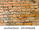 background of brick wall | Shutterstock . vector #691496668