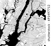 new york city monochrome vector ... | Shutterstock .eps vector #691497712