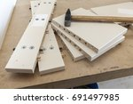 a tool for the assembly of...   Shutterstock . vector #691497985