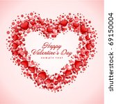 hearts frame valentine's day... | Shutterstock .eps vector #69150004