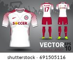 set of soccer kit or football... | Shutterstock .eps vector #691505116