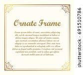 vector decorative element for... | Shutterstock .eps vector #691510786