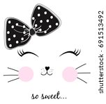 sweet girl illustration vector | Shutterstock .eps vector #691513492