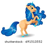 unicorn character stand on...   Shutterstock .eps vector #691513552