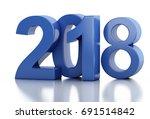 3d renderer image. new year... | Shutterstock . vector #691514842