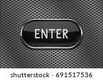 enter black button with chrome... | Shutterstock . vector #691517536