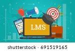 vector horizontal banner.... | Shutterstock .eps vector #691519165