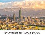 City Of Taipei Skyline At...