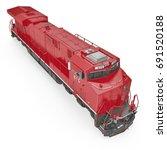 diesel electric locomotive on... | Shutterstock . vector #691520188