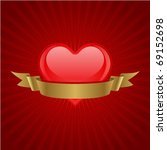 valentine day heart with gold... | Shutterstock .eps vector #69152698