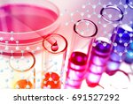 experiments in the laboratory | Shutterstock . vector #691527292