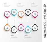 music outline icons set....   Shutterstock .eps vector #691530352
