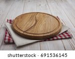 napkin. stack of colorful dish... | Shutterstock . vector #691536145