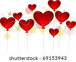 illustration of heart shaped... | Shutterstock .eps vector #69153943