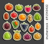 vector set icons of colorful... | Shutterstock .eps vector #691543432