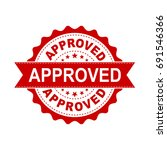 approved seal stamp vector icon.... | Shutterstock .eps vector #691546366