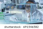 medical research scientists... | Shutterstock . vector #691546582
