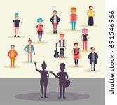 punk concert. vector. cartoon....   Shutterstock .eps vector #691546966