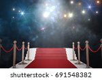 red carpet for vip. flash... | Shutterstock . vector #691548382