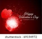 heart gift present with fly... | Shutterstock .eps vector #69154972