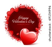 valentine's day card with... | Shutterstock .eps vector #69154996