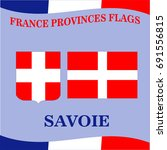 flag of french province savoie | Shutterstock .eps vector #691556815