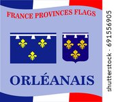 flag of french province... | Shutterstock .eps vector #691556905