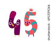 vector cute animallike... | Shutterstock .eps vector #691559266