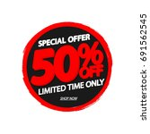 sale 50  off  special offer ... | Shutterstock .eps vector #691562545