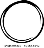 contour of the circle  hand... | Shutterstock .eps vector #691565542