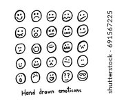 collection of black hand drawn... | Shutterstock .eps vector #691567225