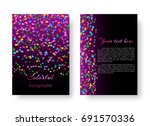 template background with bright ... | Shutterstock .eps vector #691570336