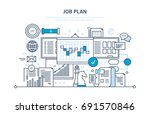job plan concept. time... | Shutterstock .eps vector #691570846