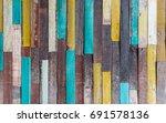 vintage wood material... | Shutterstock . vector #691578136