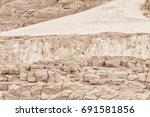 white sandstone abstract... | Shutterstock . vector #691581856