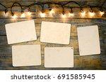 blank photo frame album   empty ... | Shutterstock . vector #691585945