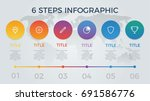 infographic element vector with ... | Shutterstock .eps vector #691586776