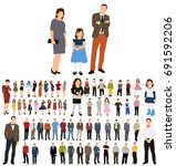 silhouettes of people flat... | Shutterstock .eps vector #691592206