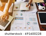 businessman investment... | Shutterstock . vector #691600228