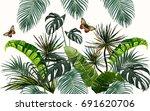 vector seamless vintage... | Shutterstock .eps vector #691620706
