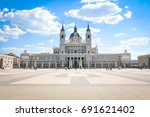 architectural view of the... | Shutterstock . vector #691621402